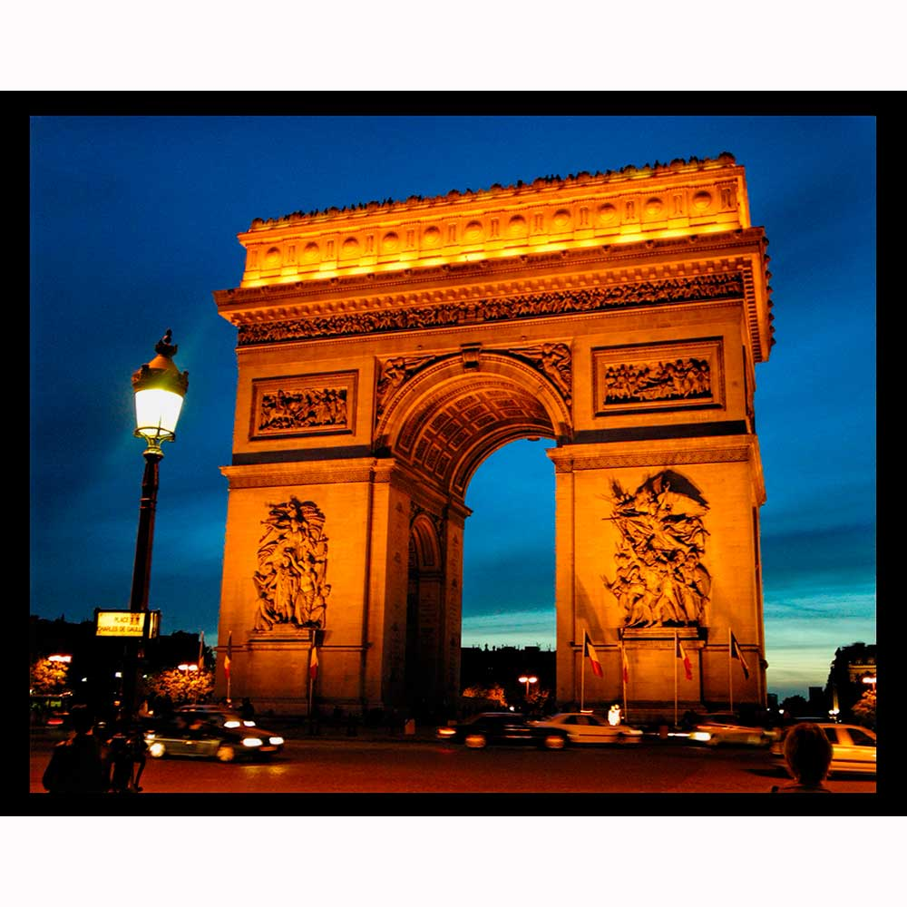 arc de triomphe at night night light designs
