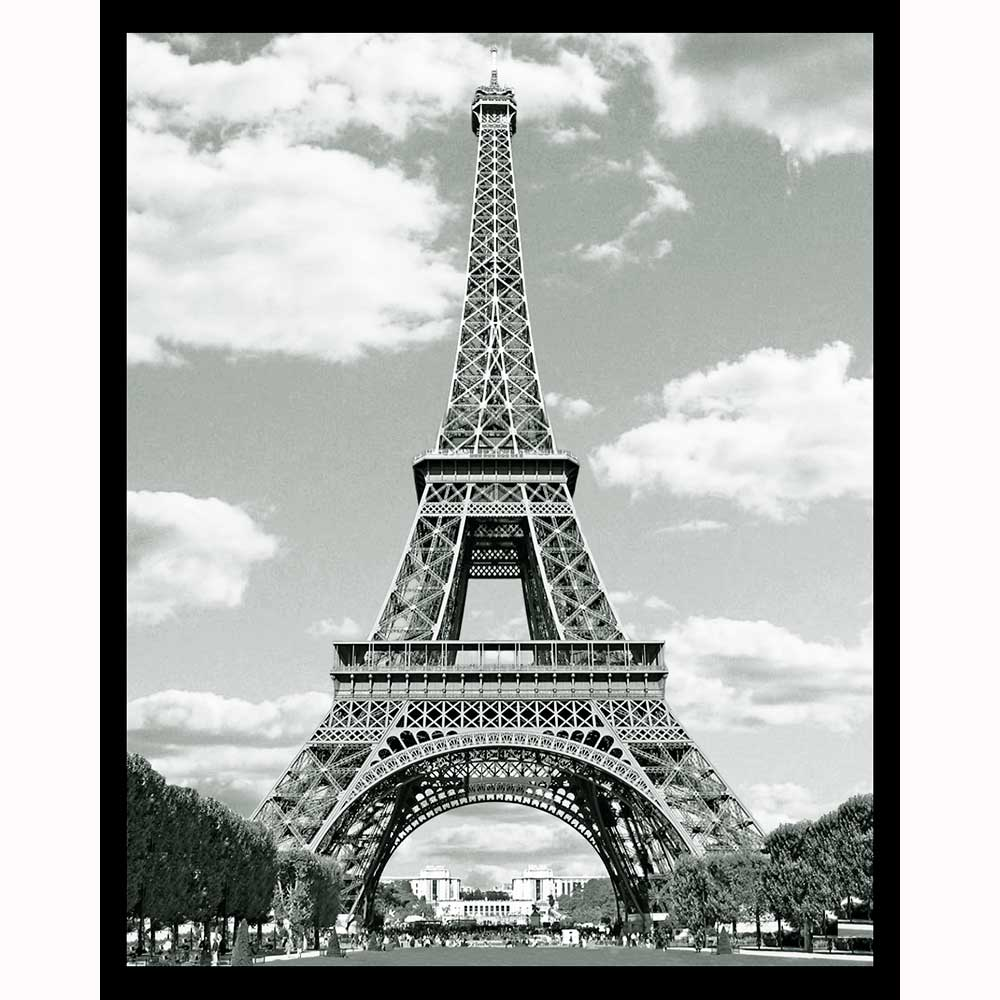 Eiffel Tower Black And White Night Light Designs